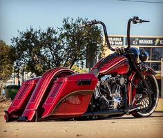Bagger Motorcycle, Motorcycle Style, Motorcycle Tips, Custom Baggers, Custom Harleys, Custom Street Bikes, Custom Bikes, Heritage Softail, Custom Motorcycle Paint Jobs