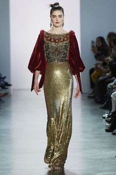 Badgley Mischka at New York Fashion Week Fall 2020 - Runway Photos Modest Fashion, Fashion Outfits, Tie Styles, Queen, Badgley Mischka, New York Fashion, Formal Wear, Evening Gowns, Fashion Beauty