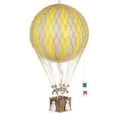 Royal Travels Hot Air Balloon In Yellow : Mobiles at PoshTots