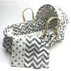 Found it at Wayfair - Chevron Moses Basket Set