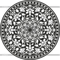 Традиционный индийский узор | Векторный клипарт | ID 3374772