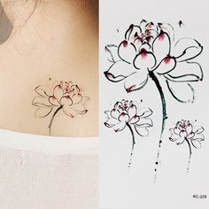 Lotus flower tattoo stickers ink lotus elegant tattoo sticker aesthetic single