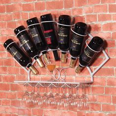 Iron wine rack hanging wall decoration wine grape wine rack shelf display rack goblet bag mail