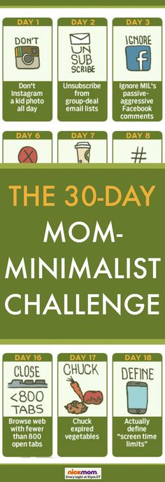 The 30-Day Mom-Minimalist Challenge | More LOLs & Funny Lists for Moms | parenting humor | @RobynHTV on NickMom