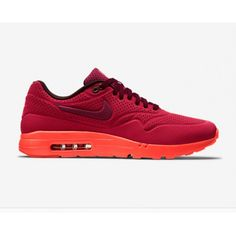 lowest price 305a8 5332e Nike Air Max 1 Ultra Moire Gym Red Mens Trainers   Shoes Sale Online