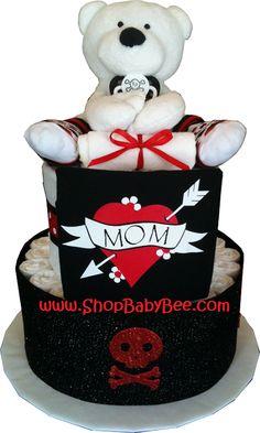 Punk Baby Diaper Cake - Baby Shower Gift