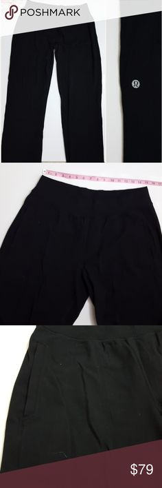 Lululemon men's black sweatpants size XL -E1 In good condition!  Mens Lululemon black sweatpants. Size XL. High quality, thick material. Deep front pockets. Loose fit. 34 inch inseam. Used item: inspected for quality and wear. Pictures show any signs of wear and use. Bundle up! Offers always welcome:)  Shop my husband's closet!: @kirchingeraaron lululemon athletica Pants Sweatpants & Joggers