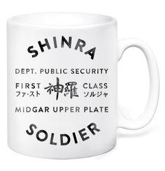 Shinra Solider Mug by GameTee (£7.99) #FinalFantasy