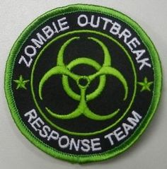Zombie Hunter Outbreak Response Team Biohazard Tactical Lime Green Velcro Patch | eBay