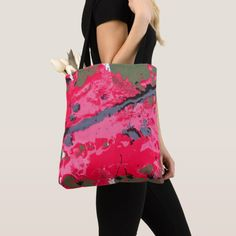 Shop Hot pink splash splash tote bag created by Buy_ArtDuo. Pink Grey, Hot Pink, Pink Tote Bags, Reusable Grocery Bags, Every Girl, Custom Clothes, Elegant, Fashion, Classy