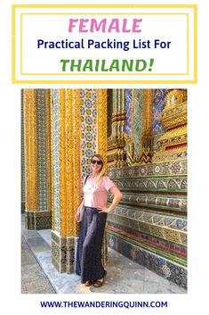 This is a complete Thailand Packing List and specifically a Thailand Packing List for Women! I list what to pack for Thailand and what to wear in Thailand including ideas for outfits to wear in Thailand. This is a great Thailand Packing List for 2 weeks, or a Thailand Packing List for backpacking! #thailand #packing #thailandpackinglist #thailandpacking #thailandoutfits #packinglist