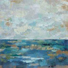 Seascape Sketches I Silvia Vassileva Abstract Coastal Sea Print Poster 24x24 in Prints | eBay