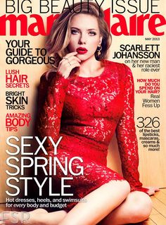 Scarlett Johansson at the cover of Marie Claire – May 2013