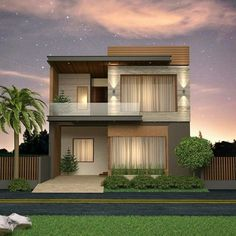 Home design plans front elevation 65 new ideas Modern Small House Design, Modern Exterior House Designs, Minimalist House Design, Dream House Exterior, Simple House Design, 2 Storey House Design, Duplex House Design, House Outside Design, House Front Design