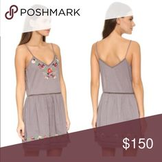 Tularosa Gray Embroidered Slip Dress Excellent condition, sold out online. The bottom half is lined. Summer 2016 collection, purchased from shopbop.  Reasonable offers through the offer feature only please! Tularosa Dresses Mini