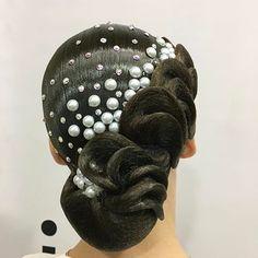 So beautifully classy Hairstyle for a European dance program✨ Image Studio . Latin Hairstyles, Classy Hairstyles, Work Hairstyles, Box Braids Hairstyles, Bride Hairstyles, Ballroom Dance Hair, Competition Hair, Hair Game, Hair Shows