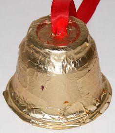 Preschool Crafts for Kids*: Christmas Bell Preschool Ornament Craft. Christmas Bells, Christmas Themes, Kids Christmas, Christmas Tree Decorations, Christmas Ornaments, Preschool Christmas Crafts, Christmas Activities, Decor Crafts, Holiday Crafts