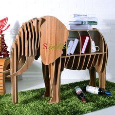 Mesa de madeira do elefante para a decoração sala de estar, mobiliário animais diy, estante animal, sorte de quebra-cabeça de elefante mesa deocration casa 669.00