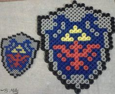 Perler and hama beads zelda magnets. Instagram: @bmatamacrame
