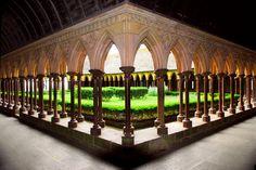 Cloister Garden of Benedictine Abbey, Mont St. Michel