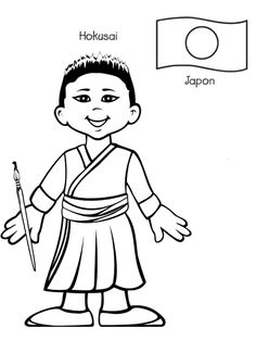 Children Around The World Coloring Page | Bed Mattress Sale