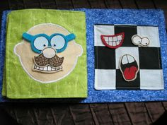 Super cute quiet book... Some day I will actually get around to making one of these.