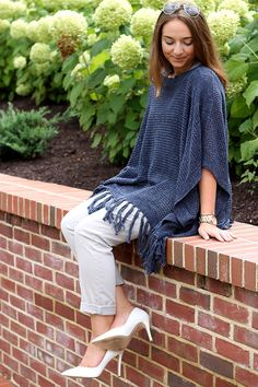 Fringed Poncho - The Coastal Confidence