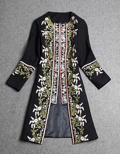 Gorgeous Coat and at such an amazing price! ....    Embroidered Wool coat ...