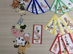 Stapeldieren met opdrachtkaarten in 4 verschillende niveaus volgens het aantal dieren *liestr*