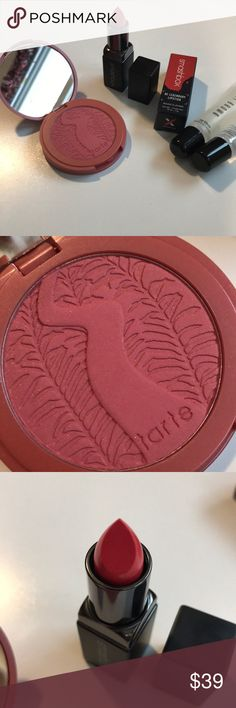 Sephora Ulta Nordstrom Beauty Makeup Lot Bundle All new. Includes full size Tarte Deserving Blush, Be Legendary Lipstick in Tempt Me, Bobbi Brown Crystal Lip Gloss and Lancôme La Base. Sephora Makeup