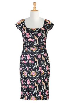 I <3 this Bow tied floral print dress from eShakti