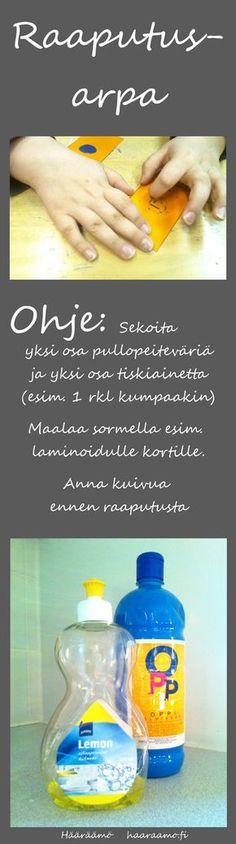 Raaputusarpa pullopeiteväristä ja tiskiaineesta http://www.haaraamo.fi