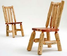 Red Cedar Log Dining Chairs - Item # DC06010
