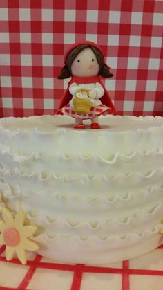 Little Red Riding Hood baby shower party cake! See more party ideas at CatchMyParty.com!