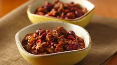 Tasty and spicy chili made with beef and beans - perfect for dinner!