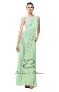 Eliza and Ethan - Multiway - Infinity -  Bridesmaids Dresses - OneSize - Maxi MultiWrap Dress Color: Mint