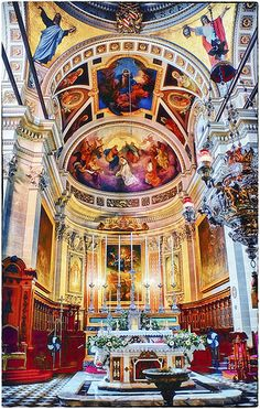 //Gozo Cathedral in Victoria (Rabat), Gozo, Malta Cathedral Basilica, Cathedral Church, Malta Holiday, Malta History, Malta Gozo, Malta Island, Thinking Day, Place Of Worship, Beautiful Architecture