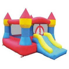 KidWise Square-shaped Castle and Slide Inflatable Large Bounce House | Overstock™ Shopping - Great Deals on KidWise Inflatable Bouncers