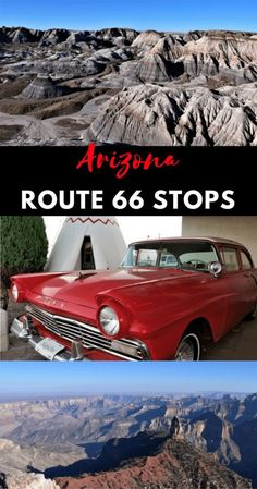 All the MUST-SEE and DO on Route 66 Arizona: National Parks, Old Western Towns, Unique Lodging, Side Trips, and even a Meteor Crater! #TravelDestinationsUsaWest