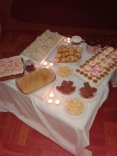 #Birthday #snack #table #Candles