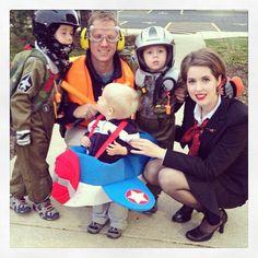 family group costumes #aviation #airplane #flight #pilot #flightattendant #airport