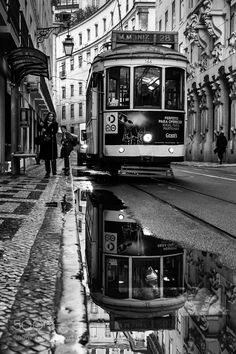 After the rain by red_canny Black And White Picture Wall, Black And White City, Black And White Wallpaper, Black And White Pictures, Gray Aesthetic, Black Aesthetic Wallpaper, Black And White Aesthetic, Photo Vintage, Photo Wall Collage