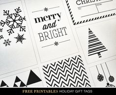 Printable Holiday Gift Tags by Creative Index