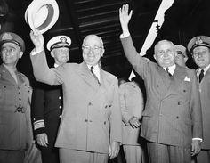 U.S. President Harry Truman and Brazilian President Eurico Gaspar Dutra in Brazil - 1946