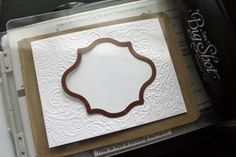 Splitcoaststampers - Tutorial for DIY embossing diffuser. Cuttlebug sandwich at bottom of instructions.
