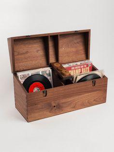 45 Record Case, black walnut
