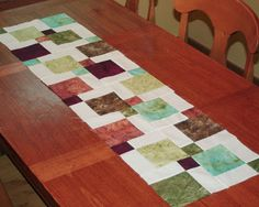 Inspired by Fabric: Disappearing Ninepatch Table Runner