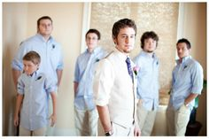 Periwinkle Blue and Lavender Wedding Blue Groomsmen, Beach Wedding Groomsmen, Groomsmen Outfits, Casual Groom Attire, Casual Wedding Attire, Our Wedding Day, Summer Wedding, Wedding Ideas, Wedding 2017