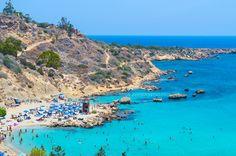 Konnos Bay in Protaras/Ayia Napa - Cyprus Places To Travel, Travel Destinations, Places To Visit, Ayia Napa, How Lucky Am I, Albania, Slovenia, Syria, Cyprus