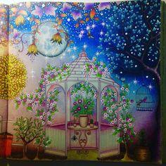Finalmente finalizado. Jardim Secreto lúdico 😍 Feito todo com lápis de cor…